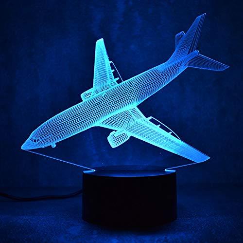 Nouveauté 3D Led Luminaire Coloré Luminaire Usb Table Lampe Chevet Sommeil Veilleuse Avion De Combat Lampe Créatif Enfants Cadeau