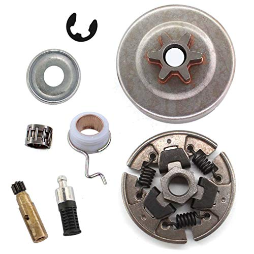 AISEN 3/8 6Z Kettenrad kupplung Nadellager Scheibe E-Clip Ölpumpe für Stihl 017 018 021 023 MS170 MS180 MS210 MS230 MS250 Motorsäge Ersetzt 1123 640 2003