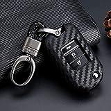 FHMMKL Custodia in Pelle a 3 Bottoni per Auto con Tasca Portachiavi per Honda Civic CR-V HR-V Accord Jade Crider Odyssey 2015-2018 Proteggi Telecomando