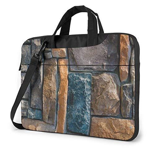 Bolsa de Mano para computadora portátil, maletín portátil de Piedra Decorativa, Bolsa de Mensajero con asa para computadora portátil de 13-15.6 Pulgadas para Mujeres