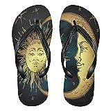 Linomo Sun Moon Star Slim Flip Flop Sandalias de playa de verano para mujer, color, talla 34.5/37 EU