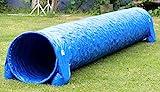 Callieway® Dog Agility Tunnel Profi blau Hunde Tunnel 5m lang / 60cmØ Agility Gerät (5m, blau)