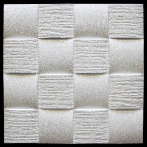 10 qm | Deckenplatten | EPS | formfest | Marbet | 50x50cm | Welle2