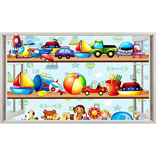 Pegatinas de paredJuguetes Niños Dormitorio Cool Wall Stickers Dormitorio Niñas Niños Sala de estar