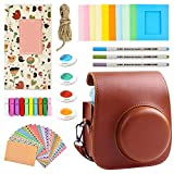Case & Accessories Compatible with Fujifilm Instax Mini 11 Instant Film Camera, Bundle Pack Include Albums, Filters, Stickers & Other Accessories. (Brown)