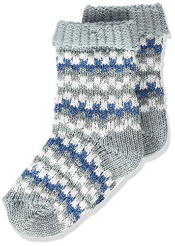 FALKE Unisex Baby Structure B SO Socken, Blau (Steel Blue 6175), 12-18 Monate (80-92cm)