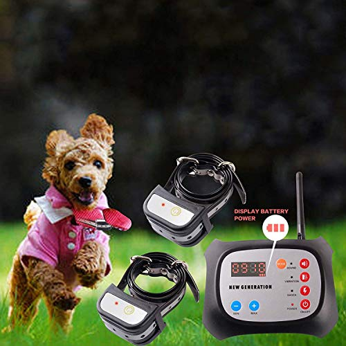 JUSTPET Wireless Dog Fence Electric Pet Containment Training Collar System, No Randomly Correction Dog Boundary Container, Adjustable Control Range...