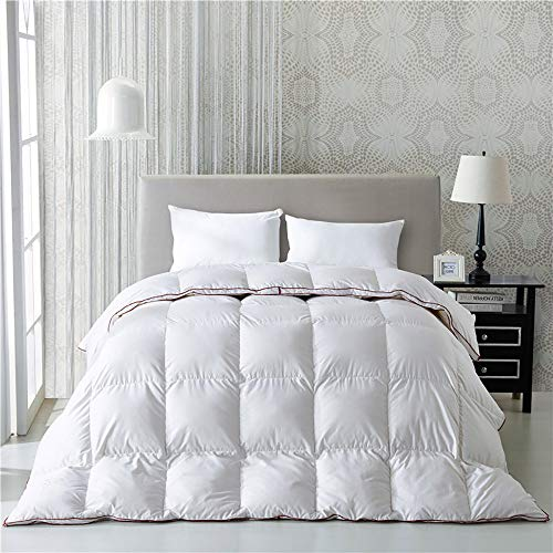 Find Discount FACAI Winter Duvets King Size Quilt White Goose Down Quilting Comforter Cotton Shell D...