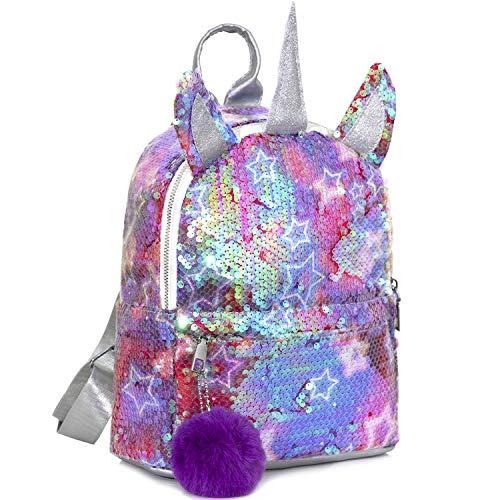 MOOKLIN ROAM Mochila Infantil Unicornio, Regalos para Niñas, Mochilas Escolares Juveniles en Gran Capacidad, Bolsa con Lentejuelas Lindo para Niños Muchachas Mujer (Peluche de Felpa: Color Aleatorio)