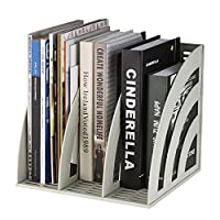 マガファイルホルダー,マガファイルホルダーデスクファイルオーガナイザーオフィススクールホームオーガニゼーションおよびストレージファイルフォルダーラックボックス、3つのコンパートメント大容量本棚ブックスタンドステーショナリー用品