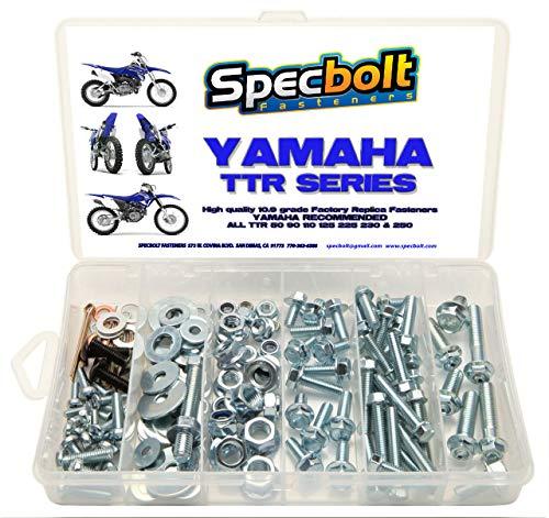 120pc Specbolt Yamaha TTR Bolt Kit for Maintenance Restoration OEM Spec Fasteners TTR50 TTR80 TTR90 TTR110 TTR125 TTR225 TTR250 TTR600 50 80 90 110 125 225 250 600 XT PW