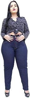 Calça Jeans Feminina Latitude Plus Size com Cinta Leia Azul