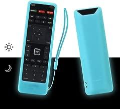 SIKAI Remote Case Compatible with Vizio XRT122 TV Remote Silicone Case for VIZIO Smart LCD LED TV Remote [Shock Proof] Silicone Cover for Vizio XRT122 Remote with Lanyard (Glow in Dark Blue)