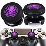Playrealm FPS Thumbstick Extender & Printing Rubber Silicone Grip Cover 2 Sets for PS5 Dualsenese & PS4 Controller (Cthulhu Secret)