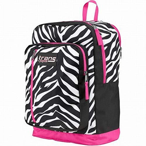 Trans by Jansport Overexposed Megahertz Backpack Pink Black Zebra