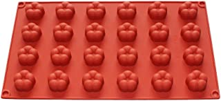 X-Haibei Small Plum Flower Ice Cube Chocolate Jello Soap Silicone Mold Supplies 1inch Dia.