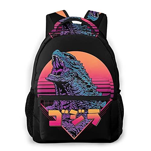 Godzilla - Mochila casual para niños, mochila ligera con estampado 3D, para trabajo, viajes, estudio, bolsa de regalo