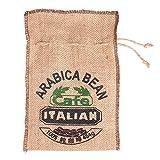 Jute Woven Bundles Coffee Bean Bags Kitchen Sundries Peas Bags Sacks Natural Burlap Bags Drawstring Reusable (10.23x6.7 inch) - 3