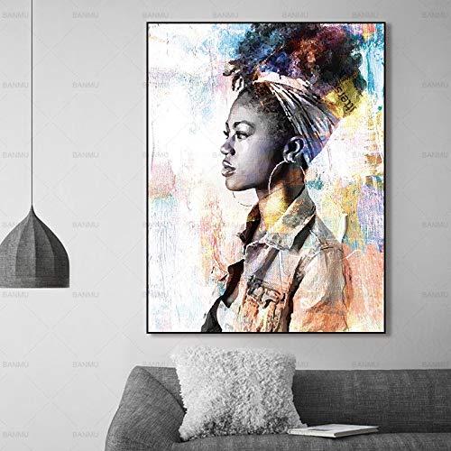 Geiqianjiumai Wandkunst Bild leinwand malerei Wand Poster Wohnzimmer Dekoration malerei Figur malerei auf leinwand Dekoration rahmenlose malerei 60x90 cm