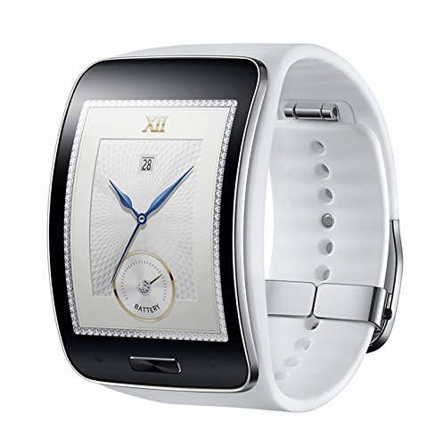 Samsung Gear S SM-R750 Curved Super AMOLED Smart Watch Prepaid Carrier Locked - Retail Packaging (White)