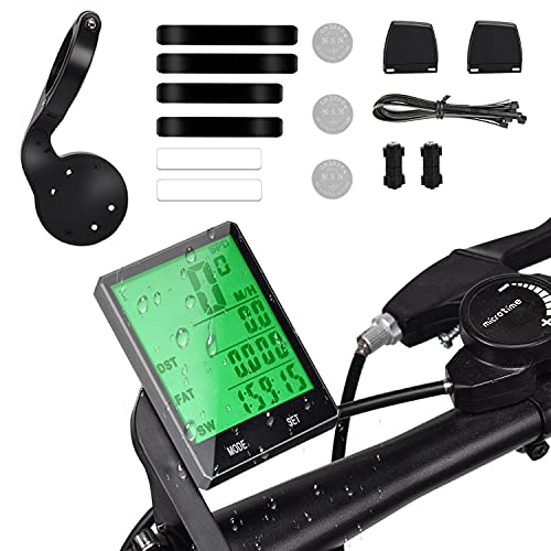 FORMIZON Computadora de Bicicleta, Velocímetro Bici con 22 Funciones 2.8in Pantalla LCD, Velocímetro inalámbrico Ciclocomputador Impermeable, Cuentakilómetros para Alle Bicicleta