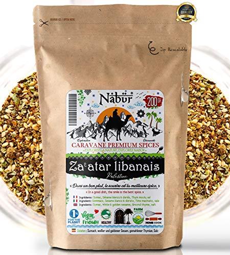 Nabür - Zatar Za'atar Libanais du Chef 200 Gr ⭐ Zaatar Gourmet, Frais, Authentique, Riche, Aromatique, Gourmandise ⭐ Sachet refermable