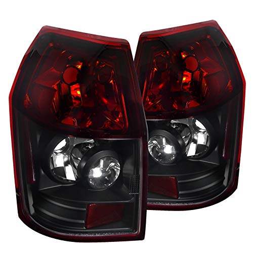 Spec-D Tuning LT-MAG05RJM-TM Dodge Magnum Se Sxt Rt Wagon Black Housing Red Lens Tail Lights