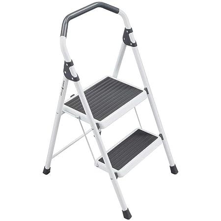 Amazon Com Gorilla Ladders Gls 2 2 2 Step Steel Lightweight Step Stool Ladder 225 Lbs Load Capacity Type Ii Duty Rating Furniture Decor