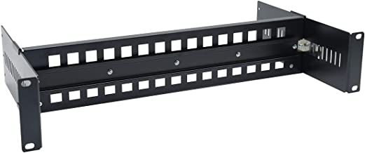 19 Inches Adjustable Rack Mount DIN Rail Bracket for Media Converters Ethernet Switch Industrial PoE Switch with Light and High Strength Aluminum Alloy Material (Black)