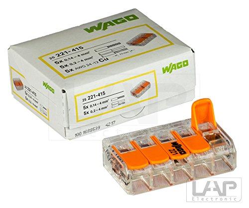 Wago COMPACT Verbindungsklemme 5-fach 221-415 (10 Stück)