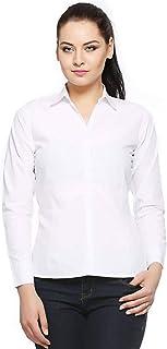 Fasnoya Women's Formal Shirt (shi33-m_White_Medium)