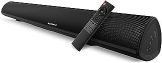 サウンドバー テレビ スピーカー 2.0ch DSP搭載 80W出力 Bluetooth/光デジタル/RCA/AUX/USB対応 ワイヤレス ホームシアターシステム IR学習機能付き 重低音調整可能 高音質 壁掛け 【日本語説明書】 (黒)