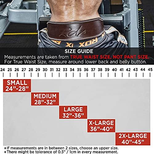 """Authentische RDXLeder Gewichtheben 4 """"Nubuk Gürtel Zurück Haltegurt Turnhalle Krafttraining, Klein, Mittel, Groß, Xlarge, 2xlarge - 6"""