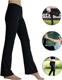 9cbdac9cffee71 HETAIDA Damen Yogahose, Versteckten Taschen Sporthosen für Damen, Mittlhohe  Taille Stilvolle Freizeitliche Joga Fitness