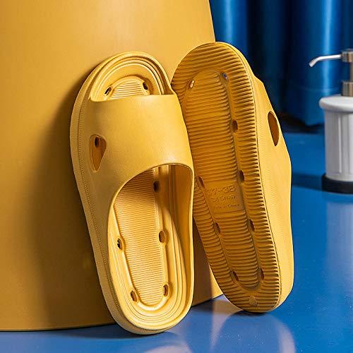 Cxypeng Bañarse Sandalia Antideslizante,Zapatillas de Plataforma de baño Huecas, Sandalias de Secado rápido con Fugas de Agua de baño-35-36_C Amarillo,Sandalias Pisos Zapatos Antideslizantes