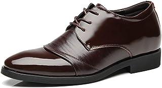 [AJGLJIYER LTD] ビジネスシューズ メンズ シューズ ポインテッドトゥ カジュアルシューズ クロスバンドストラップ 紳士靴 革靴 合皮 超繊維 レースアップ 滑り止め 軽量 コンフォート 通勤 冠婚葬祭