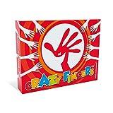 CRAZY FINGERS Le Jeu de Cartes Drôle et Fou à Emporter Partout, Fun, Embrouilles et Fous-Rires garantis, 8 Jeux Crazy de 2 à 15 Joueurs.