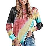 Suéter De Mujer Jerséis con Estampado De Color Sudadera De Gran Tamaño...
