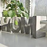 Alenio Beton Wohnzimmer Deko Buchstaben Lieblingswort in 3D Zement Gips DIY Schriftzug Geschenk Love...