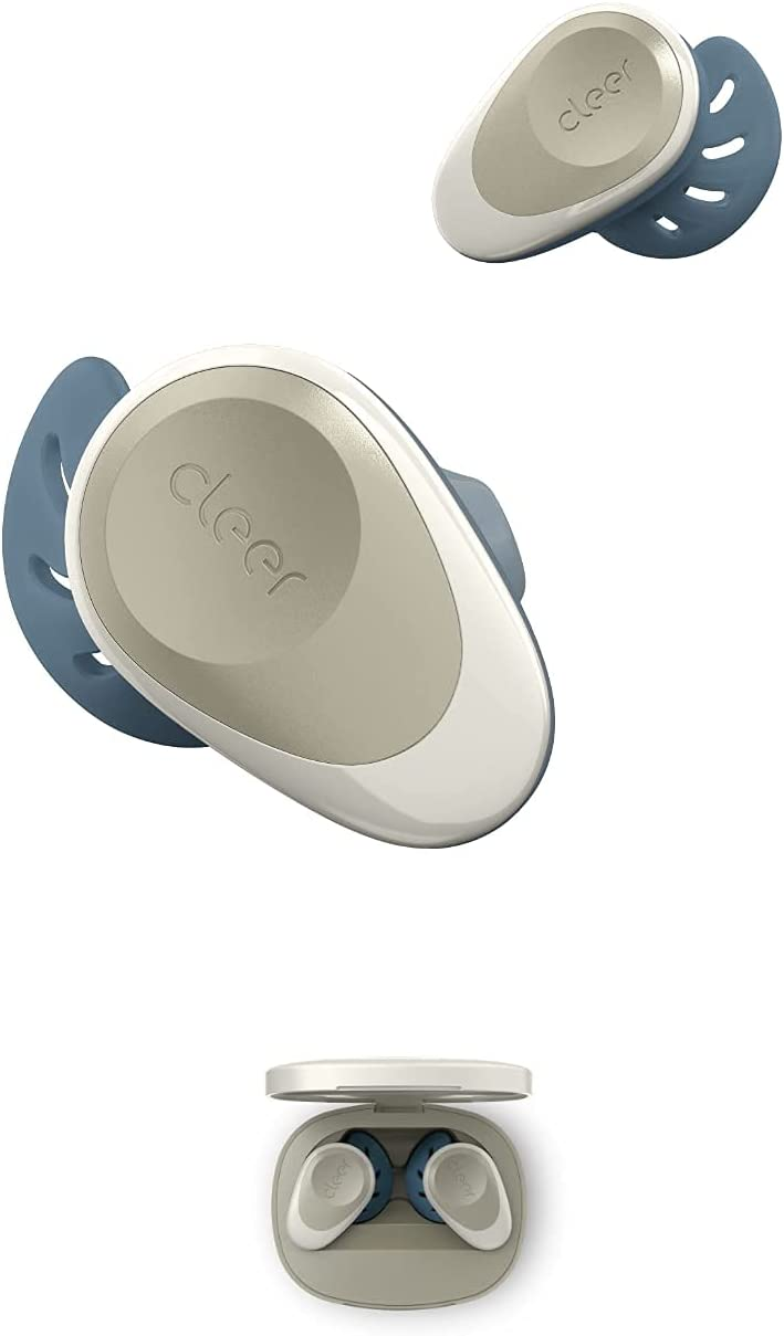 Cleer Goal Sport True Wireless Earbuds with 20 Hour Battery (Stone)