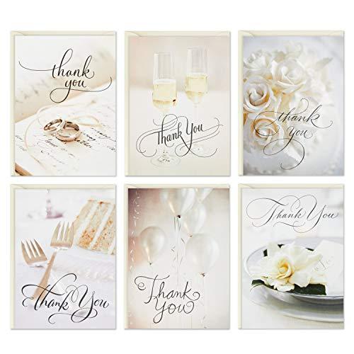 Hallmark Cartões de agradecimento de casamento, ícones de casamento (36 notas de agradecimento com envelopes) (5STZ1067)