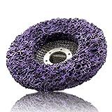Óxido de limpieza de discos discos abrasivos 1PC 125mm púrpura CSD disco para la amoladora angular metal antióxido Piedra Pulido Disco de nylon