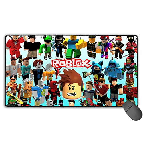 3D Game Gift Ro-bl-ox, Large Gaming Mouse Pad Extended Mouse Mat/Desk Pad with Non-Slip Rubber Base, Anti-Fraying Stitched Edges Mousepad for Laptop Console Accessories Gift