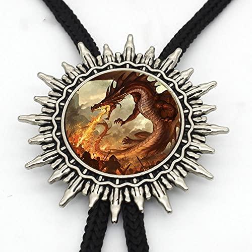 Wuyuana Bolo Tie BOLO Otro Dome Art Photo - Corbata de metal para hombre, pendientes y monedas (color: 2)