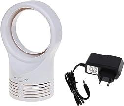 YAOHEHUA Mini-ventilator, zonder lemmet, draagbaar, ventilator, zeer stil, met twee snelheidsniveaus, verstelbaar, voor au...