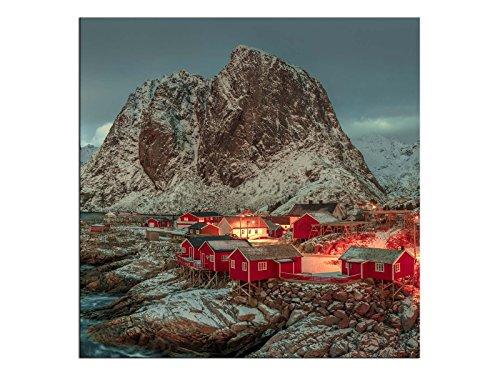 kunst-discounter A06208 - Stampa su Tela, Motivo: Costa Norvegese