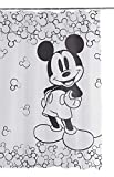 Tex idea Disney Textil Duschvorhang 180x200 Mickey Maus incl. 12 Ringe