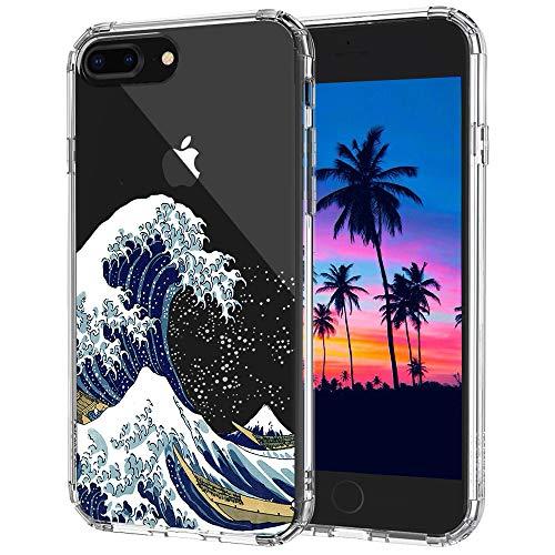 MOSNOVO Cover iPhone 8 Plus, Cover iPhone 7 Plus, Tokyo Wave Trasparente con Disegni TPU Bumper con Protettiva Custodia Posteriore per iPhone 7 Plus/iPhone 8 Plus (Tokyo Wave)