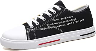 AUCDK Men Canvas Shoes Solid Color Low Top Flat Espadrilles Comfy Casual Flats Lightweight Sneakers