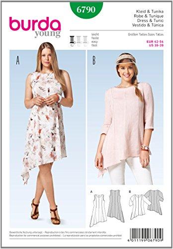 Burda Schnittmuster für Kleid und Tunika 6790, 42-54 EU
